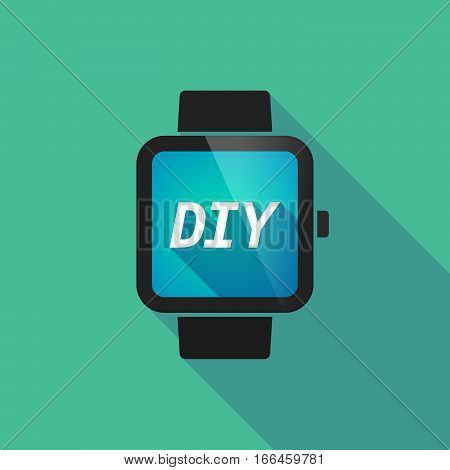 Long Shadow Smart Watch With    The Text Diy