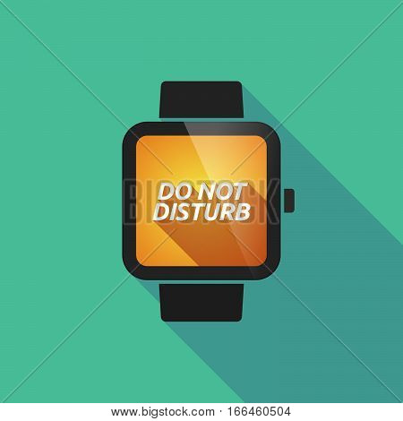 Long Shadow Smart Watch With    The Text Do Not Disturb