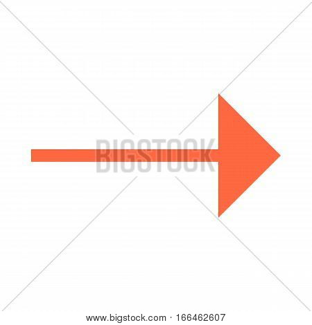 Arrow Icon Direction Button Pointer Sign Flat Style