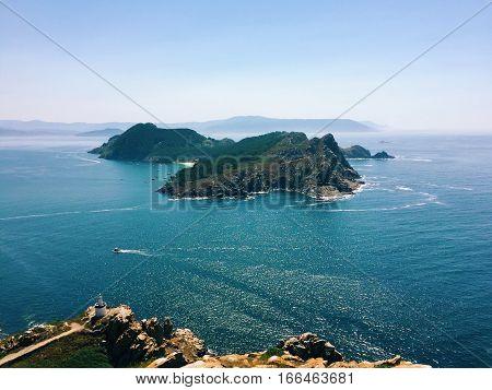 Las Islas Cíes - islands off the coast of Spain