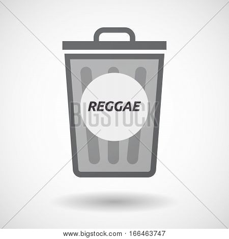 Isolated Trashcan With    The Text Reggae