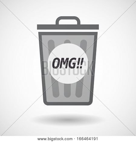 Isolated Trashcan With    The Text Omg!!