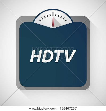 Isolated Weight Scale With    The Text Hdtv