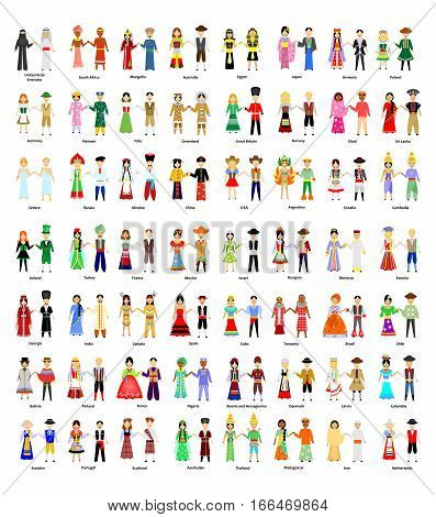 illustration with a big set of people of different nationalities.