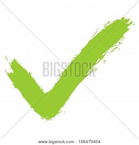 Green Check Mark Sign Addition Icon
