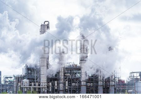 Petrochemical plant in the Rotterdam harbor area