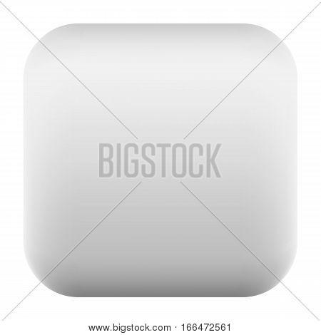 Gray Square Button Blank Web Internet Icon