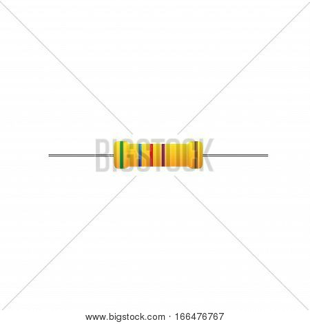 Electronic component resistor on a white background
