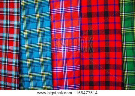 Traditional east african fabrics - Maasai tribe Kenya