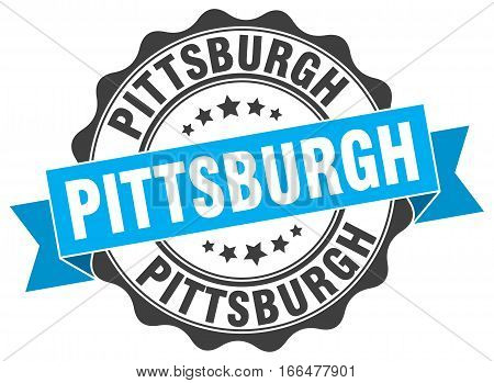 Pittsburgh. round isolated grunge vintage retro stamp