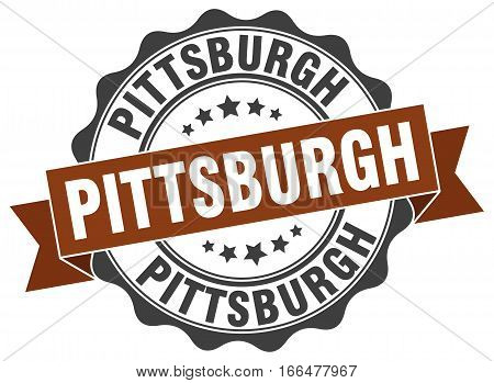 Pittsburgh. round isolated grunge vintage retro stamp