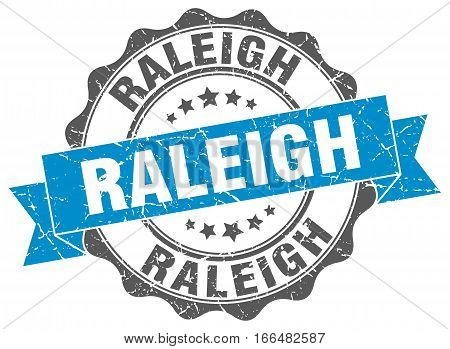 Raleigh. round isolated grunge vintage retro stamp