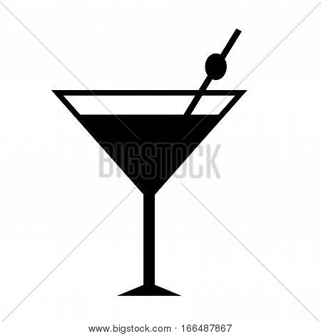 Coctail icon. Isolated vector on white background.