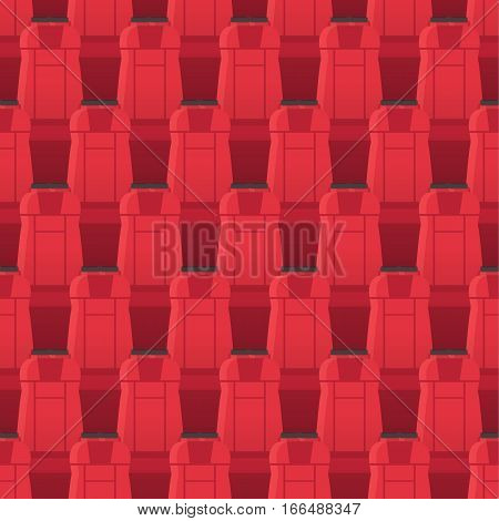 Cinema seats seamless pattern. Endless texture with cinema seats. Entertainment movie seatings. For tickets design, wallpaper, wrapping paper. Chairs in theatre in flat style. Vector illustration