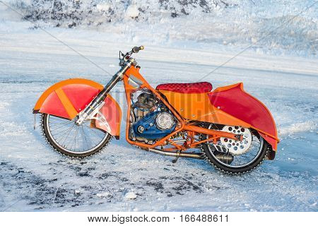 motorcycle for winter Speedway on the ice