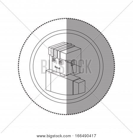 silhouette sticker lego with portrait man worker with helmet vector illustration poster