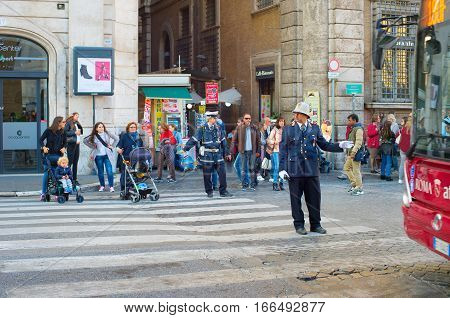 Italy Road Policeman