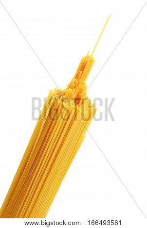 Bunch Of Spaghetti Pasta Isolated On White