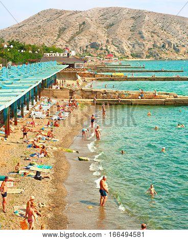Crimea Sea Beach Scene, Ukraine