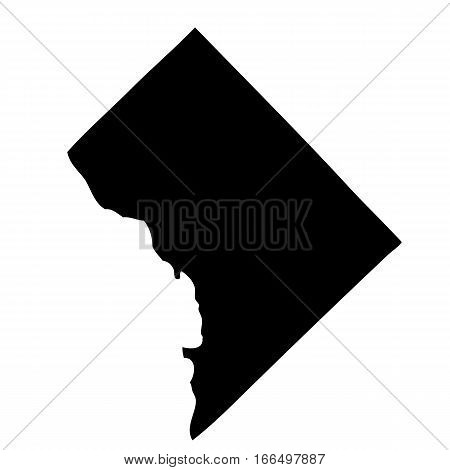 Map of the U.S. District of Columbia