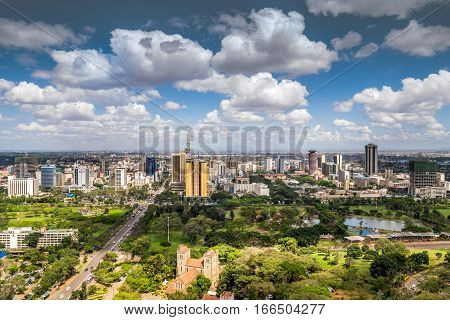 Nairobi Downtown - Capital City Of Kenya