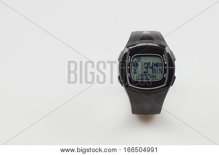 Sport tester heart rate monitor on a white background