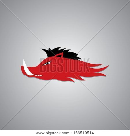 Wild Hog head Mascot, sport team logo vector