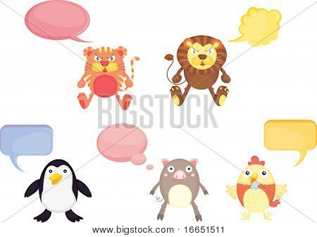 illustration of a animals on a white background