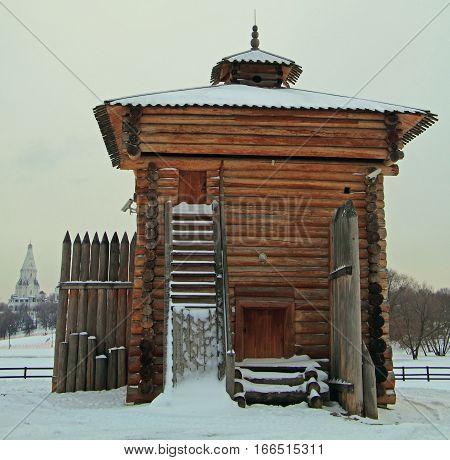 Bratsk Stockade Tower In Former Royal Estate Kolomenskoye