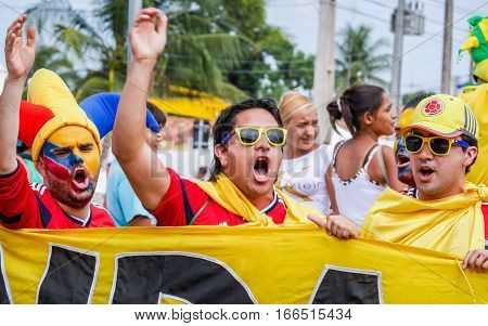 Colombian Football Fans