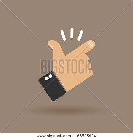 Snap of the fingers.  Vector template for website