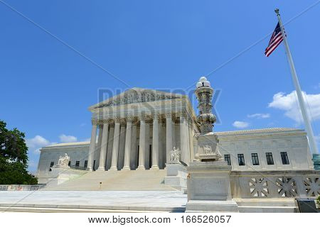 United States Supreme Court Building in Washington, District of Columbia, USA