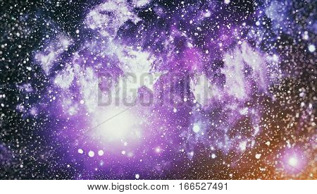 Colorful Starry Night Sky Outer Space background