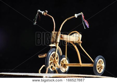 Miniature Of Wooden Kids Bicycle