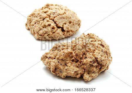 Brutti ma buoni (ugly but good) cookies on a white background