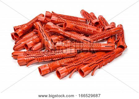 Universal 10 mm diameter plastic anchors on a white background