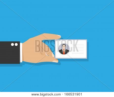 Badge template or identification card. Conference concept