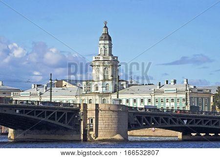 Buildings of Kunstkamera museum in Saint-Petersburg, Russia