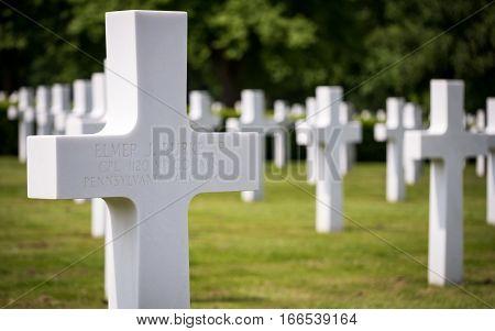 Cambridge American Cemetery, Uk