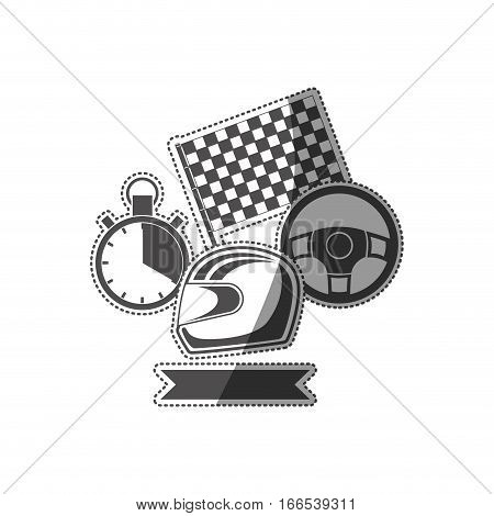 Racing motorsport symbols icon vector illustration graphic