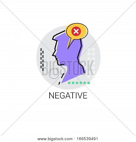 Negative Bad Disapproved Profile Icon Avatar Vector Illustration