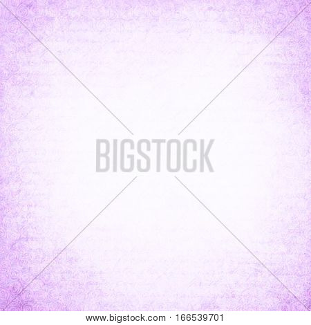 Vintage textured background with purple script pattern