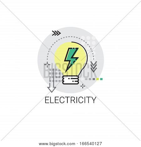Electricity Energy Supply Power Invention Icon Vector Illustration