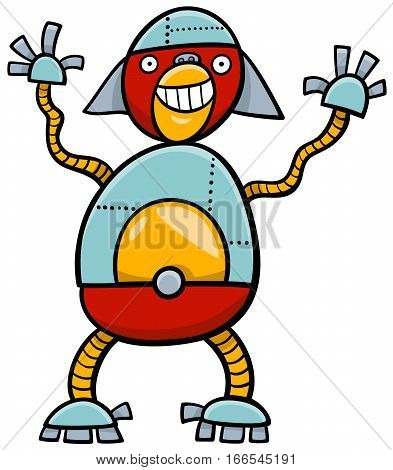 Ape Robot Cartoon Character