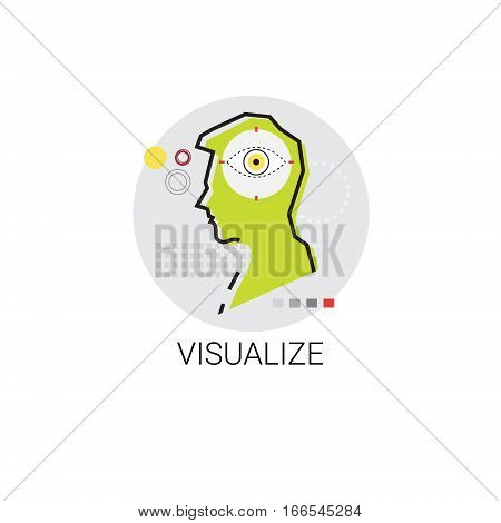 Visualize Technology Digital Visualization Icon Vector Illustration