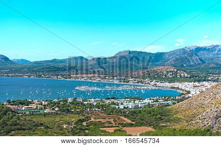 Port De Pollenca. Majorca. Balearic Islands. Spain.