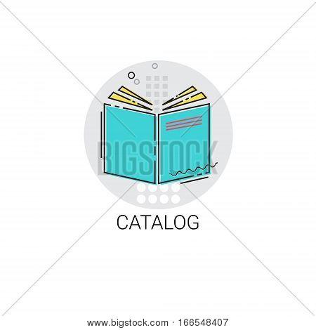 Catalog Workbook Notebook List Icon Vector Illustration