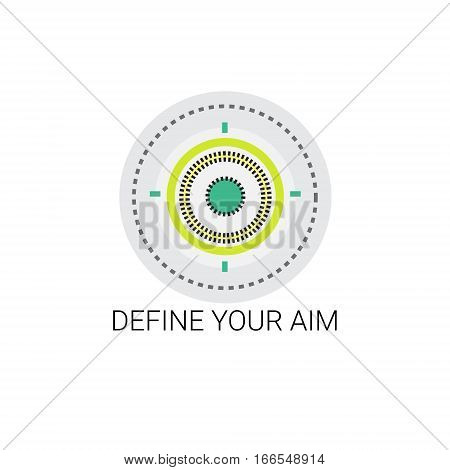 Define Your Aim Target Opportunity Icon Vector Illustration