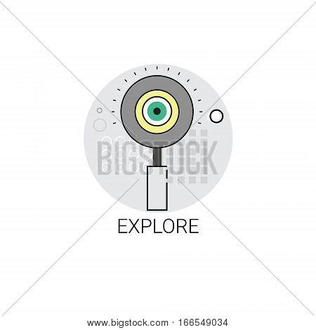 Explore Business Research Concept Icon Vector Illustration