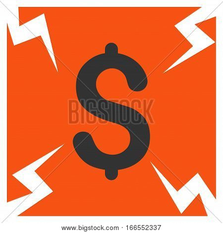 Business Failure vector pictogram. Style is flat graphic symbol.
